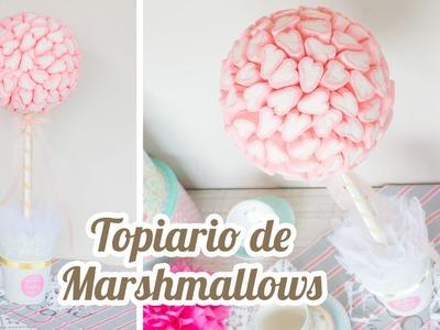 Topiario de Marshmallows Corazón | #10 Mesa dulce para Baby Shower | Quiero Cupcakes!