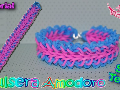 ♥ Tutorial: Pulsera Amodoro 2 en 1 (sin telar) ♥