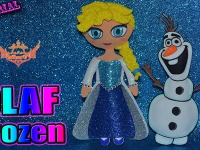 ♥ Tutorial: Olaf en relieve de Frozen hecho de Goma Eva.Foamy (Fácil) ♥