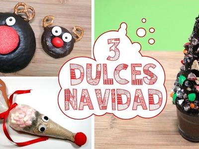 3 DULCES PARA NAVIDAD I Reno de chocolate y Árbol de Navidad dulce ♥ Qué cositas