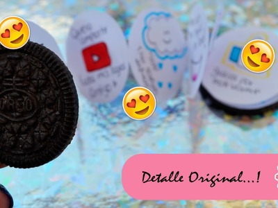 CARTA ORIGINAL - GALLETA OREO - DETALLE DIY :::. ♡ ♡ ♡