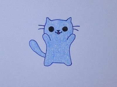 Cómo dibujar un lindo gatito kawaii