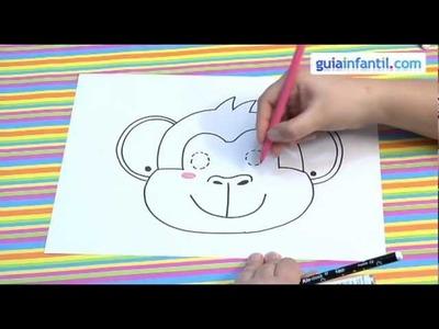 Cómo dibujar una máscara de mono para niños