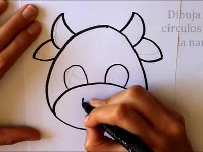 Cómo dibujar Una Vaca Dibuja Conmigo Dibujos de Animales