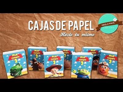 Como hacer cajas con Papel ¡Hazlo Fácil! -  Cajas Personalizadas - Tematica Toy Story
