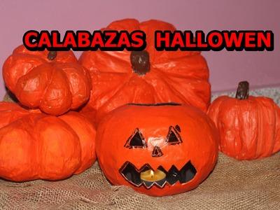 COMO HACER CALABAZAS HALLOWEEN. COLABORATIVO
