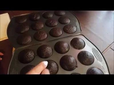 Como hacer pastelitos.cupcakes  de chocolate