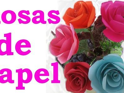 Cómo hacer rosas de papel faciles y bonitas paso a paso