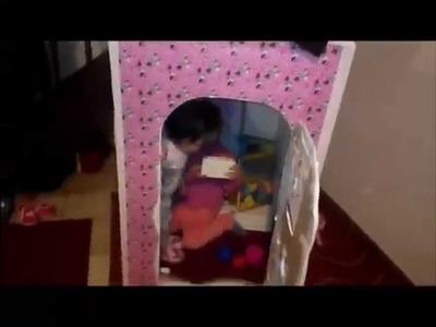 """Cómo hacer una Casa de Cartón para Niños  # 4 """"FAM"""