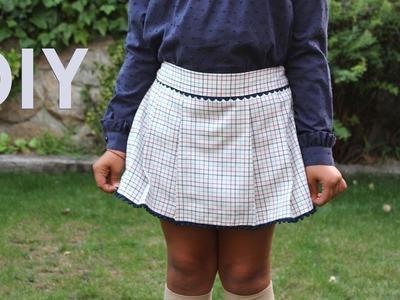 Como hacer una falda pantalón de niña. Hazlo tu misma.