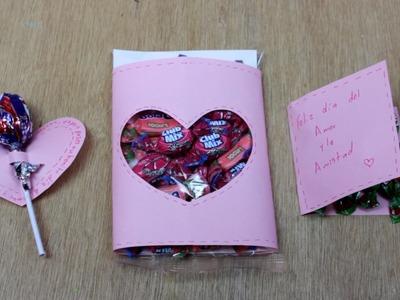 COMO HACER UNA TARJETA CREATIVA PARA MI MEJOR AMIGA. carta en forma de corazon con papel