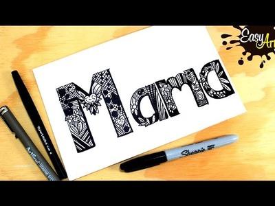 Como hacer una tarjeta Día de la madre 2. how to make a Blast Card Mother's Day