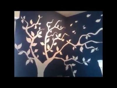 Como pintar un árbol en la pared
