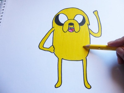 Dibujando y pintando a jake - Drawing and painting to jake