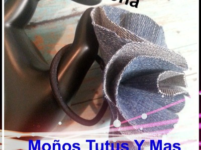 Flores Hechas con Pantalon de Lona FLOWERS MADE FROM JEANS Tutorial DIY How To PAP Paso a Paso