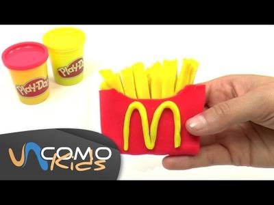 Hacer patatas fritas de McDonald's con Play Doh