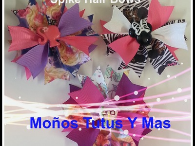 Moño rápido y facil con Spikes EASY SPIKE HAIR BOW Tutorial DIY