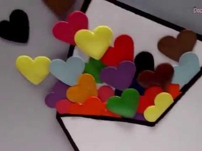 Tarjeta o postal con relieve para día de San Valentín