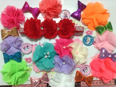 Tiaras con flores prefabricadas Creaciones Rosa Isela   No. 235