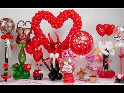 Como hacer arreglo o cesta de globos para San Valentín