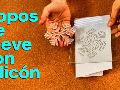 Cómo hacer Copos de nieve de Silicon - Adornos de Navidad  - Házlo tú mismo DIY