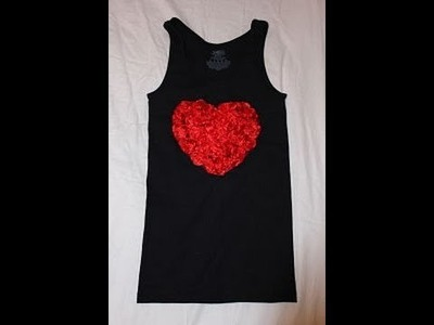 ♥ DIY lace shirt for valentine's  day♥ manualidad camiseta de encaje para san valentine♥