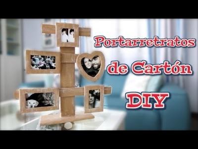 Portarretratos de carton DIY | Manualidades, reciclaje y decoración