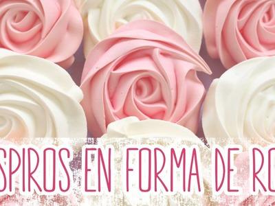 Receta: Suspiros en forma de rosas -- Merengue suizo