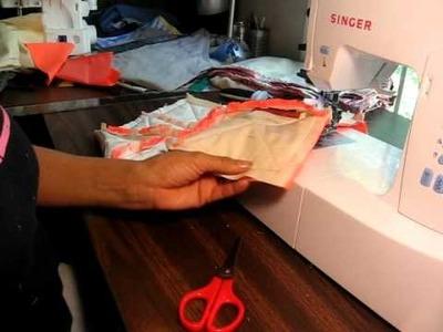 Tutorial 2 Como terminar el borde de quilt o colcha deshilado ( rag quilt) English annotations