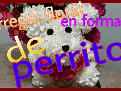Arreglo floral en forma de perrito - angycrisjavi
