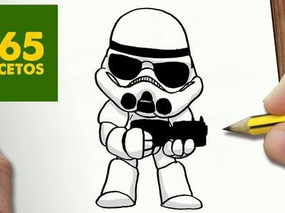 COMO DIBUJAR SOLDADO IMPERIAL KAWAII PASO A PASO - Dibujos kawaii faciles - draw stormtrooper