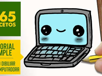COMO DIBUJAR UNA COMPUTADORA KAWAII PASO A PASO - Dibujos kawaii faciles - How to draw a laptop