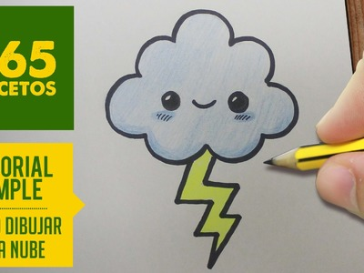 COMO DIBUJAR UNA NUBE KAWAII PASO A PASO - Dibujos kawaii faciles - How to draw a Cloud