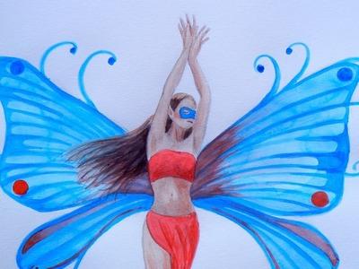 Cómo dibujar y pintar un hada - Arte Divierte