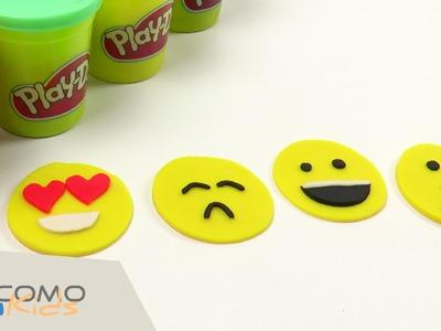 Cómo hacer las caras de whatsapp con plastilina Play Doh