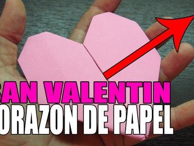 Como hacer un CORAZON DE PAPEL paso a paso en español para SAN VALENTIN (Muy fácil) origami heart