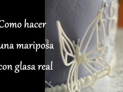 Como hacer una Mariposa en 3D con glasa real (royal icing)