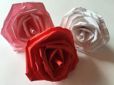 Como hacer una rosa de papel
