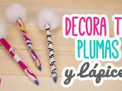 DIY Decora tus Bolígrafos. Plumas con Pompones!! | Mini Tip#87 Catwalk ♥