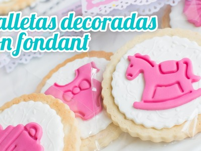 Galletas de mantequilla decoradas | #15 Mesa dulce para Baby Shower | Quiero Cupcakes!