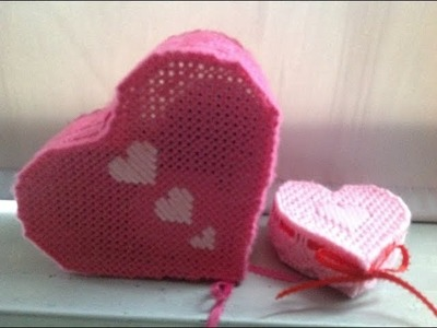 Heart Box(plastic canvas)