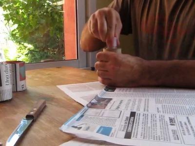 Macetas de papel para plantines o almacigos - muy faciles de hacer, practicas y gratis