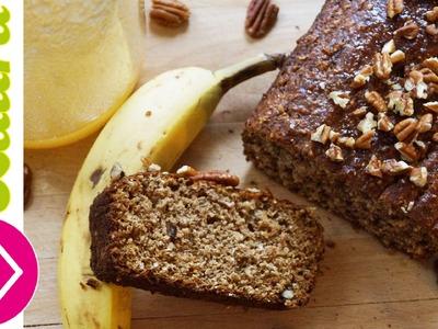 PAN DE PLÁTANO delicioso, fácil y rápido de preparar - Banana Cake wheat recipe