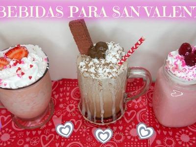 Tres Bebidas Especial Para San Valentín - Mi Cocina Rápida
