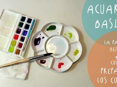 Tutorial ACUARELAS: como preparar los colores y las PALETAS mejores by ART Tv