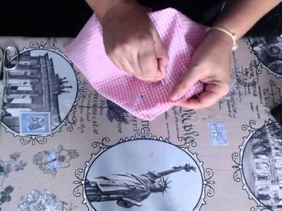 #Tutorial: cose conmigo un bolso de bandolera, parte 3 (interior y montaje del bolso).