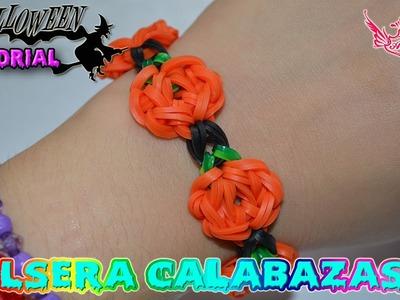 ♥ Tutorial: Halloween 2015 - Pulsera Calabazas (sin telar) ♥