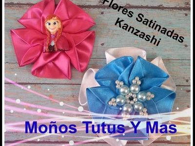 Paso a paso FLOR SATINADA KANZASHI Como hacer SATIN KANZASHI FLOWER Tutorial DIY PAP