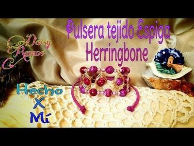 Pulsera con Tejido de Espiga, Herringbone DIY