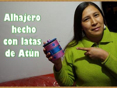 ALHAJERO HECHO CON LATAS DE ATÚN